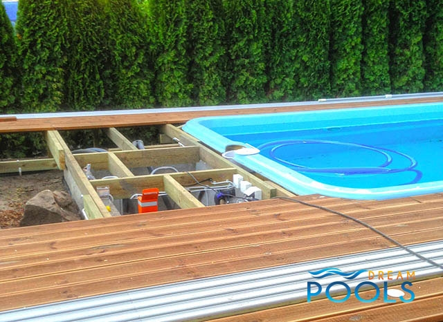 Swimming Pool Assembly : Dreampools the best quality fiberglass pool assembly