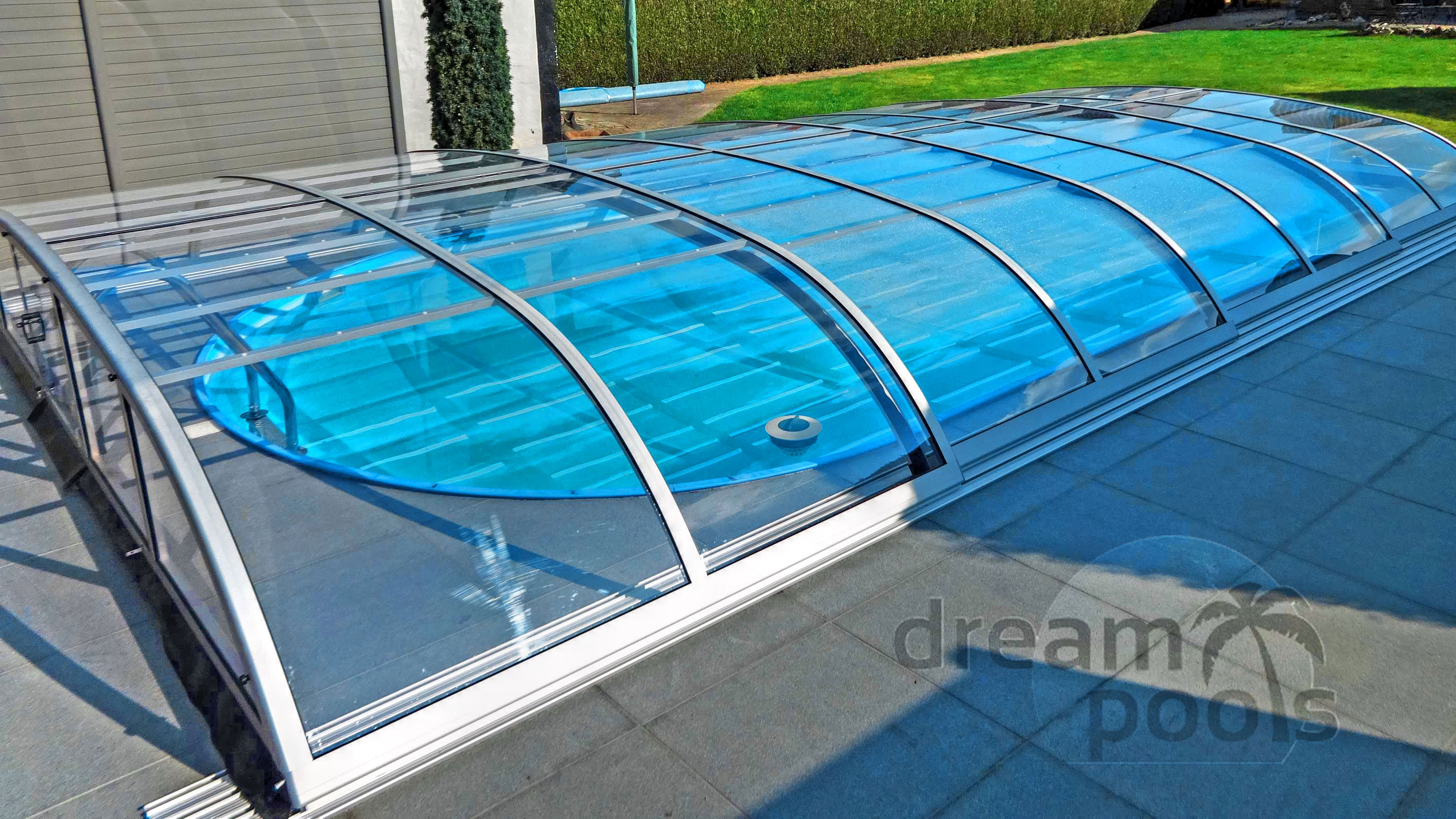Dreampools the best quality polyester pools for Cost of swimming pool installation inground