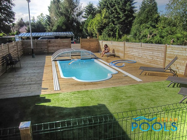 Dreampools the best quality fiberglass pools for Cost of swimming pool installation inground