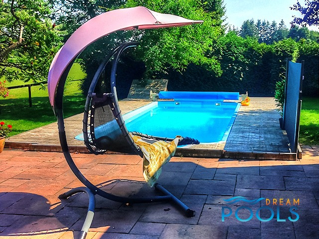 Dreampools the best quality fiberglass swimming pool Fiberglass swimming pool installation